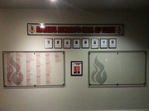 athens hall fame wall
