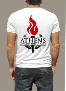 backside of athens hall of fame t-shirt