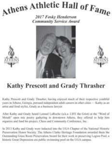 Kathy Prescott and Grady Thrasher