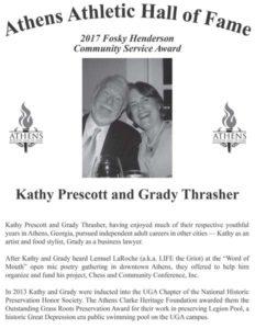 Kathy Prescott and Grady Thrasher